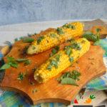 Кукуруза с базиликом