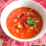 Острый томатный суп с нутом